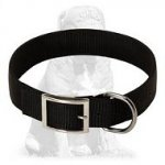 Wide adjustable 2 ply nylon Mastiff collar