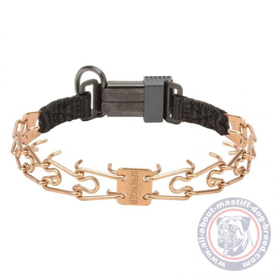 Mastiff HS Curogan Pinch Dog Collar - Diameter of prongs - 1/11 inch (2.25 mm)