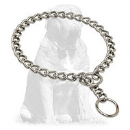 Mastiff Chrome Plated Choke Collar for Training and Behavior Correction 1/8 inch (3,5 mm)