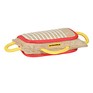 3 Handled Bite Pillow-Training Jute Bite Pad Mastiff training