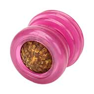 Mastiff Dog Treat Ball - Pink Rubber Design of Small Size