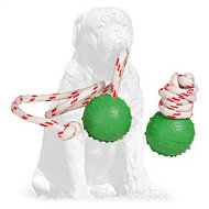 Mastiff Dotted Rubber Ball for Water Training and Playing of Small Size