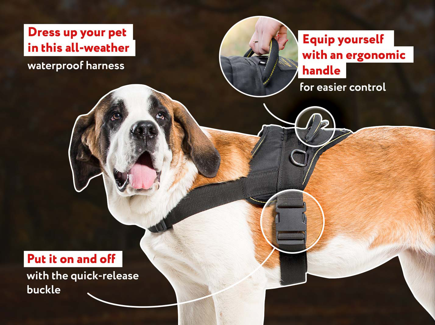 Nylon Practical Harness for Tracking/Pulling