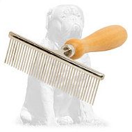"Mastiff ""Hair Designer"" Comb with Wooden Handle"
