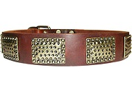Luxury Leather Dog Collar for Mastiff