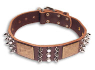 Spiked Brown collar 26'' for Mastiff /26 inch dog collar - C86