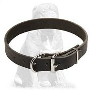 Exclusive elegant leather collar