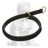 Gorgeous braided choke leather Mastiff collar