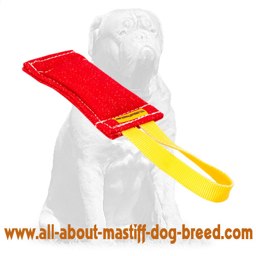 Longlasting French Linen dog tug for bite training