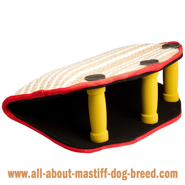 Mastiff Dog Bite Builder Jute with 3 Padded Handles