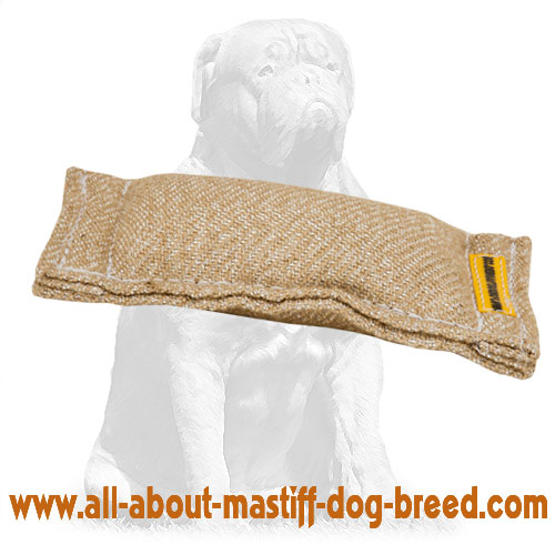 Safe bite jute tug for puppy training