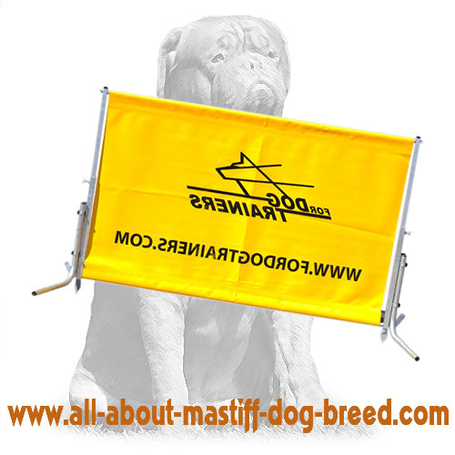 Reliable barrier for Schutzhund dog training