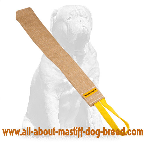 Durable jute training bite tug