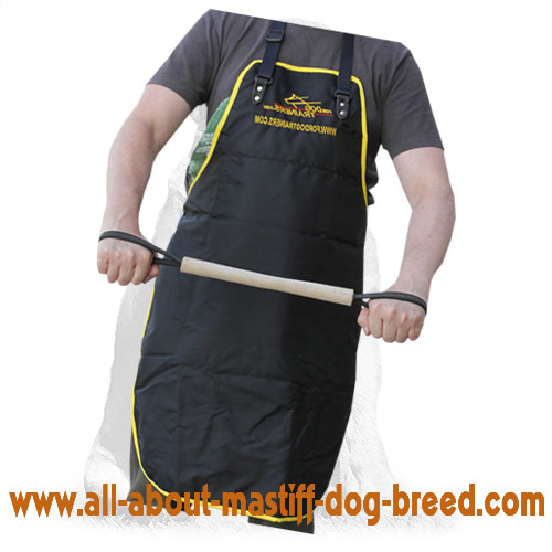 Reliable biting tug for dog training with handle