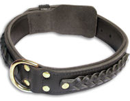 Mastiff Braided Black dog collar 20 inch/20'' collar -C55s33