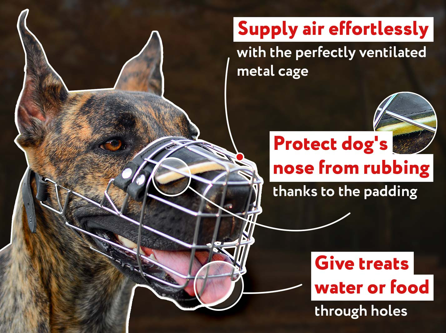New Wire Basket Dog Muzzle For Mastiff or similar Big Dogs