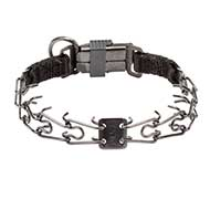 Mastiff Herm Sprenger Dog Pinch Collar of Black Stainless Steel 1/11 inch (2.25 mm) link diameter
