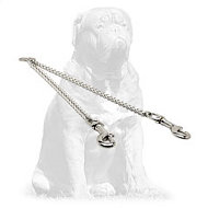 Mastiff Chrome Plated Dog Coupler for Walking 2 Dogs 1/9 inch (3 mm)