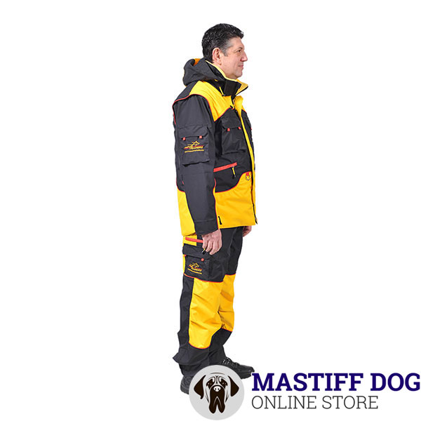 Dog Training Suit with A Hood on Lacing