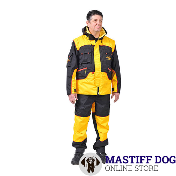 Protection Dog Training Suit of Water Resistant Fabric