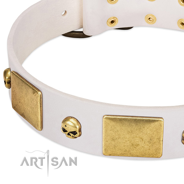 Best quality full grain genuine leather collar handmade for your four-legged friend