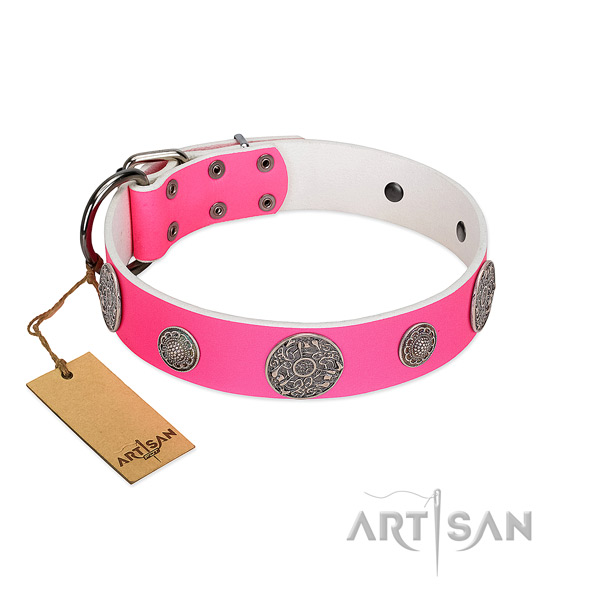 Best quality full grain genuine leather collar for your beautiful dog
