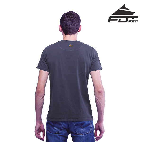 Men T-shirt of Dark Grey Color Pro for Dog Walking