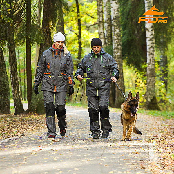 Unisex Top Notch Dog Training Suit for Men and Women with Reflective Trim