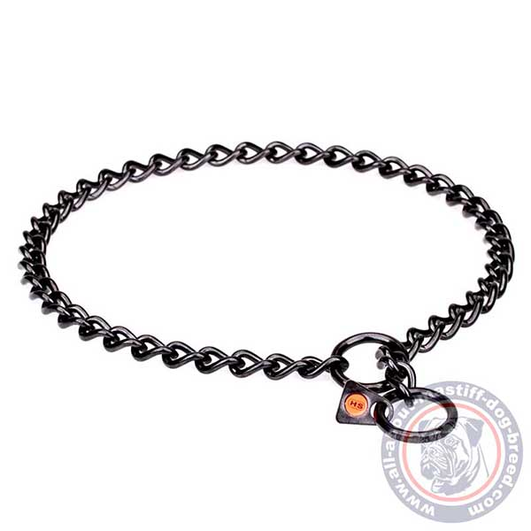 Sturdy choke chain dog collar