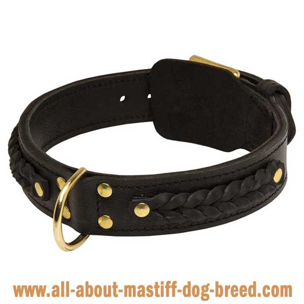 Safe Leather Cane Corso Mastiff Collar