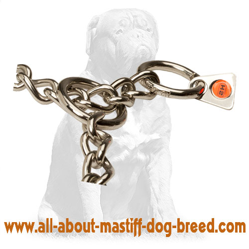 Welded metal choke dog collar