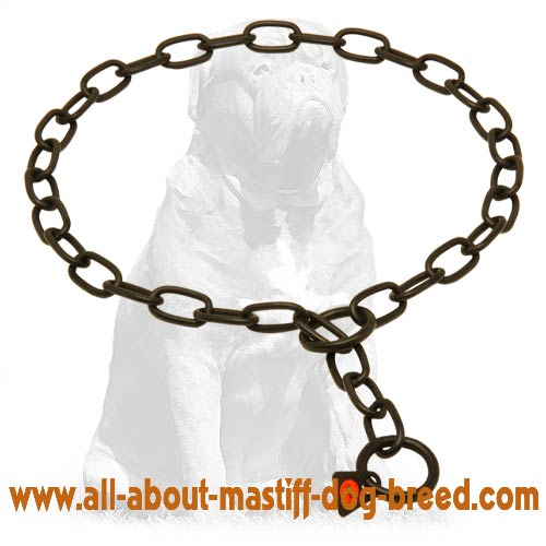 Choke chain dog fur saver
