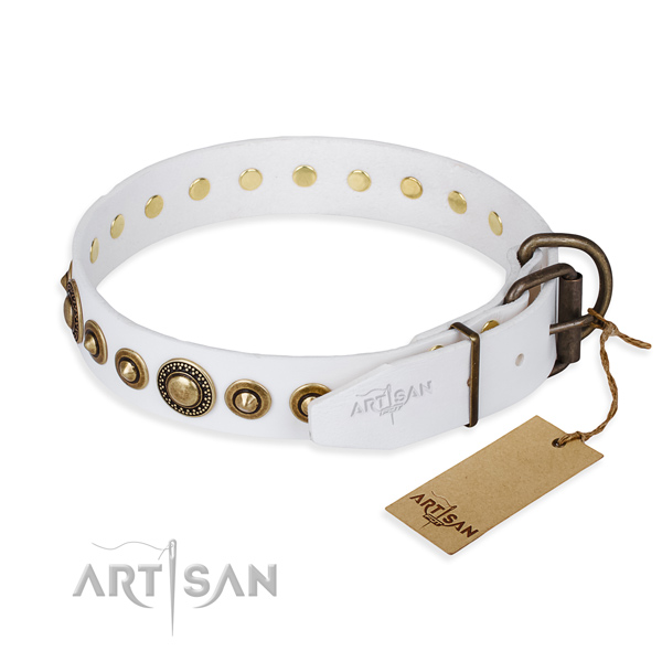 Multifunctional leather collar for your darling canine