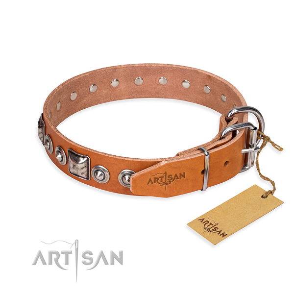Awesome leather collar for your elegant pet