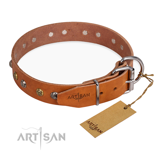 Multifunctional leather collar for your handsome dog