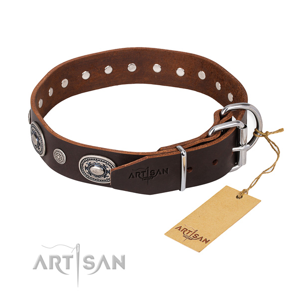 Wear-proof leather collar for your elegant pet