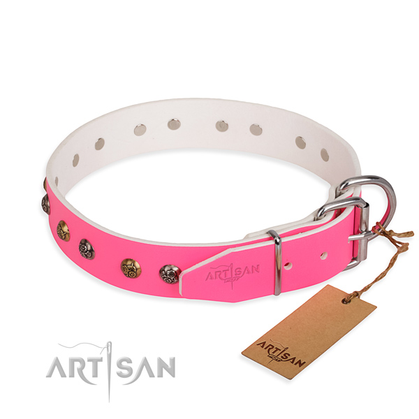 Wear-proof leather collar for your gorgeous four-legged friend