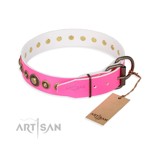 Wear-proof leather collar for your beloved pet