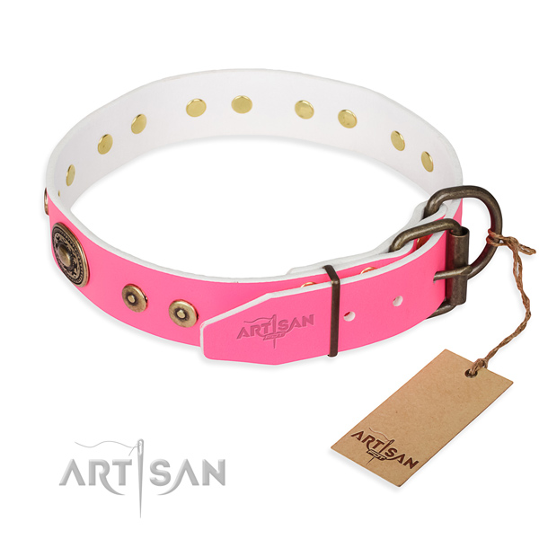 Durable leather collar for your favourite pet