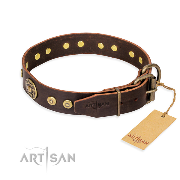 Multifunctional leather collar for your beloved four-legged friend