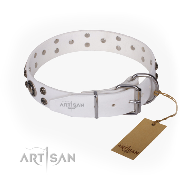 Durable leather collar for your beloved dog