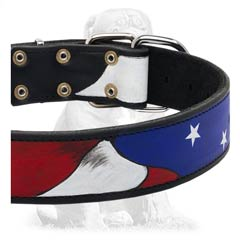 American Flag Leather Mastiff Collar