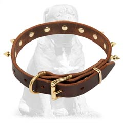 Rust proof  leather collar