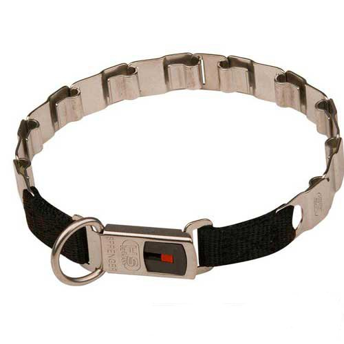 Secure to fasten Neck Tech dog collar with buckle