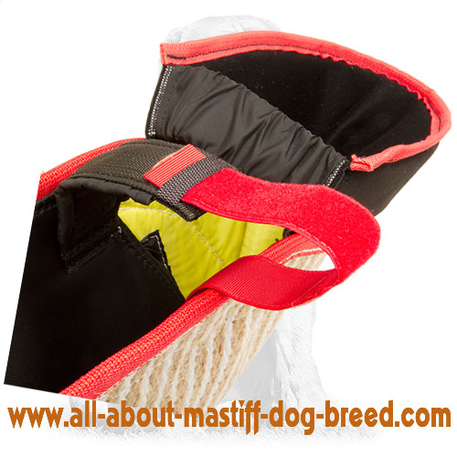 Protective bite dog jute sleeve for puppy training
