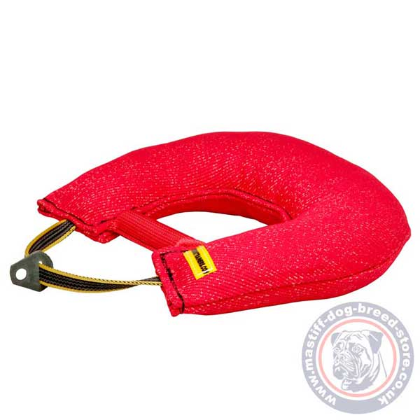 Eco-friendly French Linen dog tug for bite training
