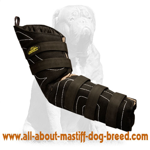 Flexible dog bite sleeve for protection