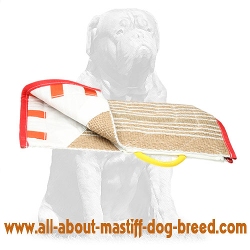 Comfy jute dog cover for training sleeve