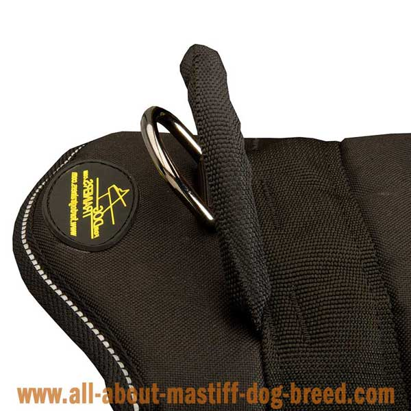 Extra reliable nylon German Mastiff harness with be-in-control handle