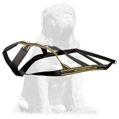 Handmade dog harness for effective training
